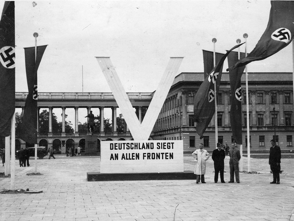 Nazi Propaganda - V-Deutschland Siegt An Allen Fronten