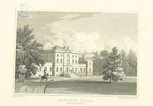 Sandon Hall - Sandon Hall in 1818
