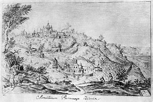 Near Caves - The Near Caves of the Kiev Pechersk Lavra. Drawn by author Abraham van Westerveld in 1651.