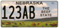 Nebraska Beef State License Plate.png