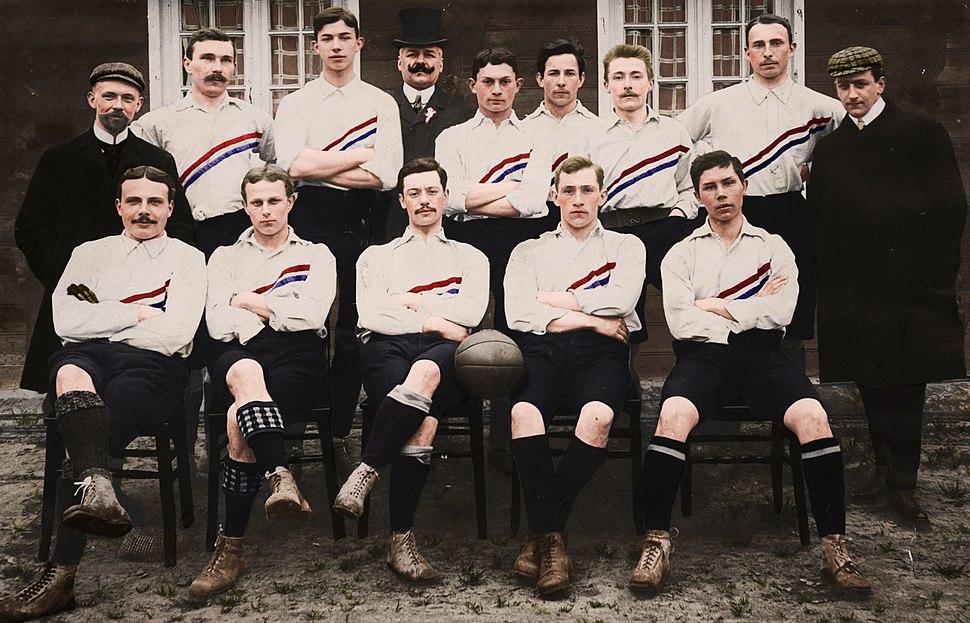 Nederlands elftal 1905 colorized