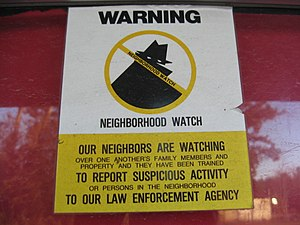 Neighborhood watch - Image: Neighborhood watch sign