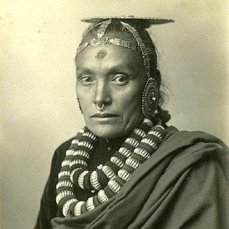 Khas people - Image: Nepali woman in 1900