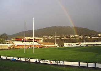 Netherdale - Netherdale rugby stadium, home of Gala RFC