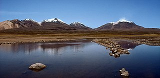 Kimsa Chata (Bolivia-Chile) group of three mountains on the border of Bolivia and Chile
