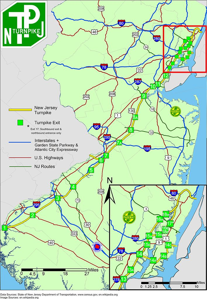 Population density of new jersey 500x580 mapporn for Directions to garden state parkway south