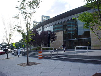 Trenton Transit Center - The new facade and entrances of the Trenton station as of June 2009
