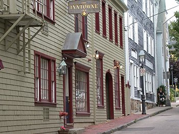 Some of the historic buildings in Newport, nea...