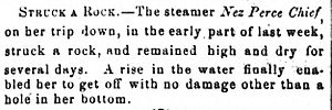 Nez Perce Chief strikes rock (1868 news item.jpg