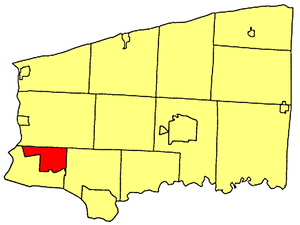 Niagara, New York - Location within Niagara County.