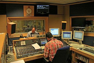 BBC Radio Solent - Nick Girdler in the BBC Radio Solent studio in Southampton.