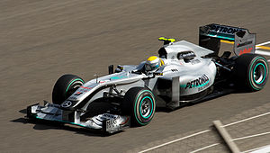 2010 Bahrain Grand Prix - Nico Rosberg set the fastest time in the second free practice session for Mercedes.