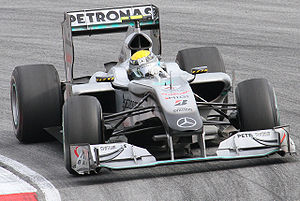 Mercedes-Benz in Formula One - Nico Rosberg scored Mercedes-Benz's first podium finish as a works team since 1955 at the 2010 Malaysian Grand Prix