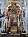 Niederaltaich Klosterbasilika St. Nikolaus Innen Hochaltar 1.JPG