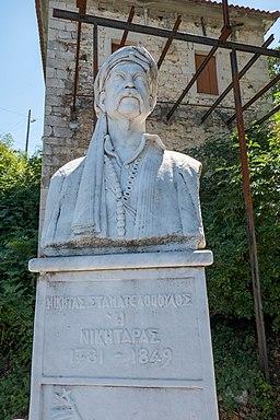 Nikitaras bust in Ano Doliana, Greece