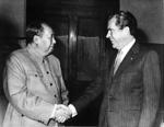 Première entrevue diplomatique entre le président américain Richard Nixon et Mao Zedong, à Pékin, le 29 février 1972.