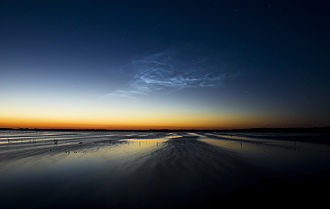Noctilucent cloud - Noctilucent clouds over Bargerveen, Drenthe, Netherlands