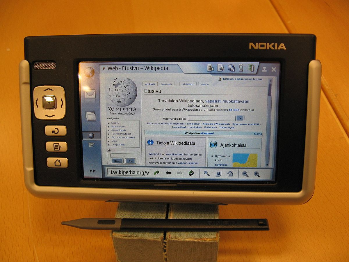 Nokia 770 Internet Tablet Wikipedia