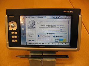 Nokia 770 Internet Tablet - Image: Nokia 770 fi wiki