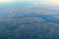 Aerial view of Noord-Beveland
