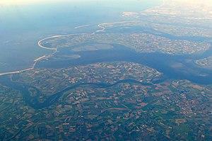 Noord-Beveland - Aerial view of Noord-Beveland