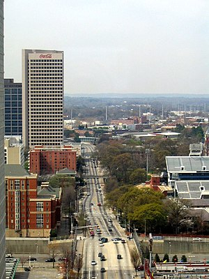 North Avenue (Atlanta) - North Avenue as it passes the Coca-Cola Headquarters