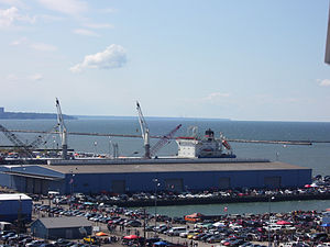 Port of Cleveland - A warehouse at the Port of Cleveland