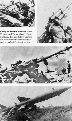 Operation Linebacker II - North Vietnamese anti-aircraft defense weapons