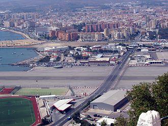La Línea de la Concepción - View of La Línea de la Concepción as seen from the Rock of Gibraltar