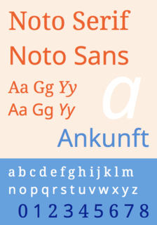 Noto fonts Multilingual font family from Google