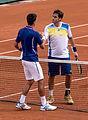 Novak Đoković & Guido Pella - Roland-Garros 2013.jpg