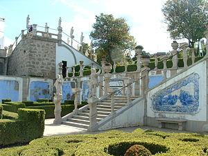 Azulejos no Jardim do Pa�o, Castelo Branco.
