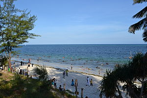 Nyali Beach from the Reef Hotel during high tide in Mombasa, Kenya 32.jpg