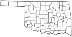 Location of Bray, Oklahoma