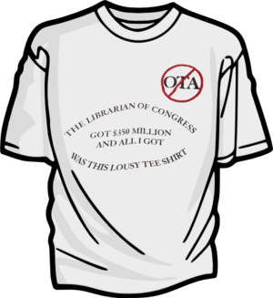 Office of Technology Assessment - Image: OTA Shirt Front
