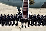 Obama departs JBA, stops to pose for group photo 150504-F-WU507-132.jpg