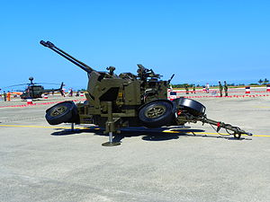 Oerlikon GDF-006 35mm Twin Cannon Display at Chih Hang Air Force Base Apron 20130601a