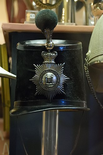 Militia and Volunteers of Northumberland - Image: Officer's Shako of the Northumberland Light Infantry Militia 1855 1861
