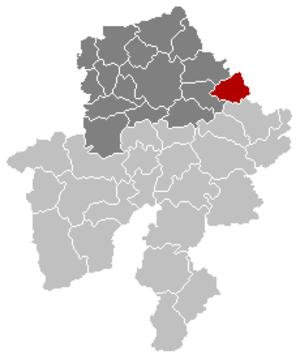 Ohey - Image: Ohey Namur Belgium Map
