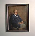 """Oil Portrait- Clarence """"Sy"""" Syvertson Ames Director from 1977 to 1984 (4994064462).jpg"""