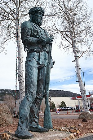 Old Bill Williams - Old Bill Williams statue in Williams, Arizona