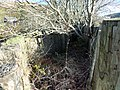Old G&SWR main line & Mennock Toll access ruins, Nithsdale. View at Mennock Pass Road over bridge.jpg