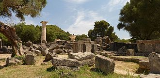 Olympia Odos - Temple of Zeus in ancient Olympia
