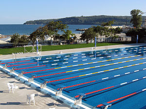Olympian Swimming pool in Sea Garden, Varna, B...