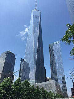 One World Trade Center Main building of the rebuilt World Trade Center complex in Lower Manhattan, New York City