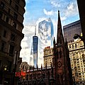 One World Trade Center and Trinity Church.JPG