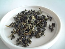 Rolled oolong tea leaves