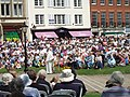 Open air service in Exeter Cathedral Close - geograph.org.uk - 1381287.jpg