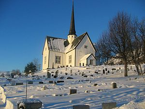 "Oppdal - View of Oppdal Church also known as ""Marit Vang"" (by Daniel Northall – 28 Dec 2005)"