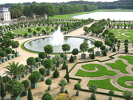 Orangery at the Palace of Versailles, outside Paris